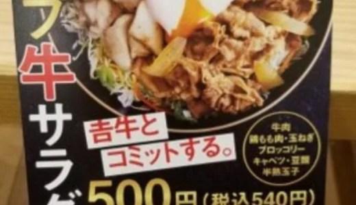 吉野家 ライザップ牛サラダ カロリー糖質タンパク質はいくら?美味しい マズイ?口コミ感想は?