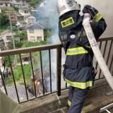 長崎県長崎市椎の木町付近で火災