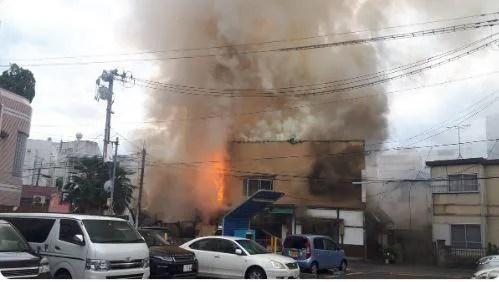 福島市陣場町3丁目で火災