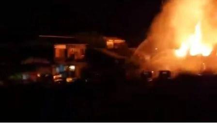 白浜産業工場で火事