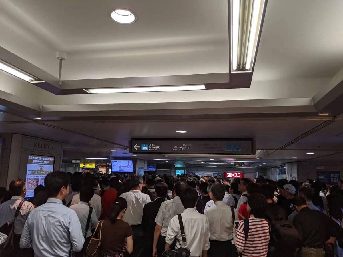 台風15号2019 翌日のJR駅各地の混雑状況