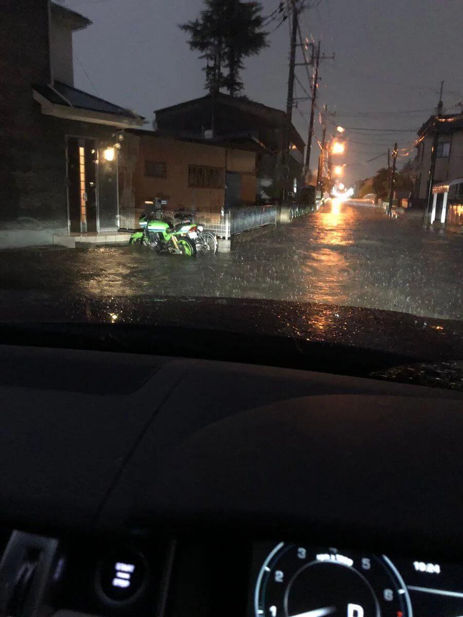 埼玉県上尾市で大雨警報 ゲリラ豪雨