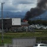 富山市上野付近付近で火災