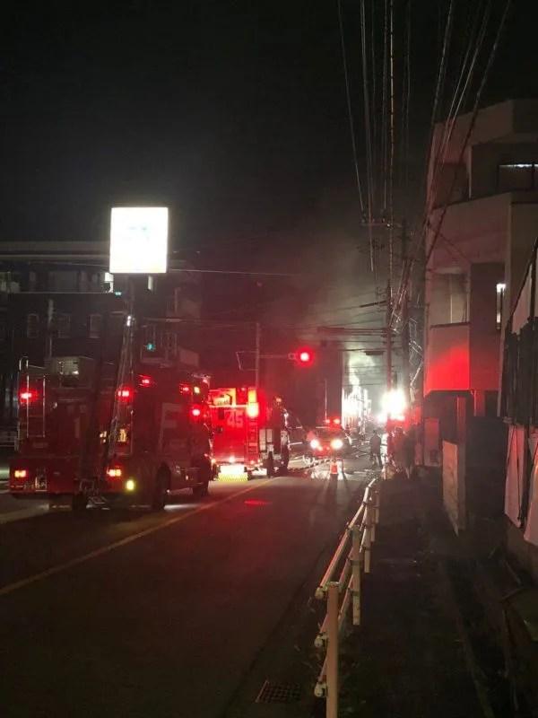 福岡県粕屋町大字内橋 東福運送で火事