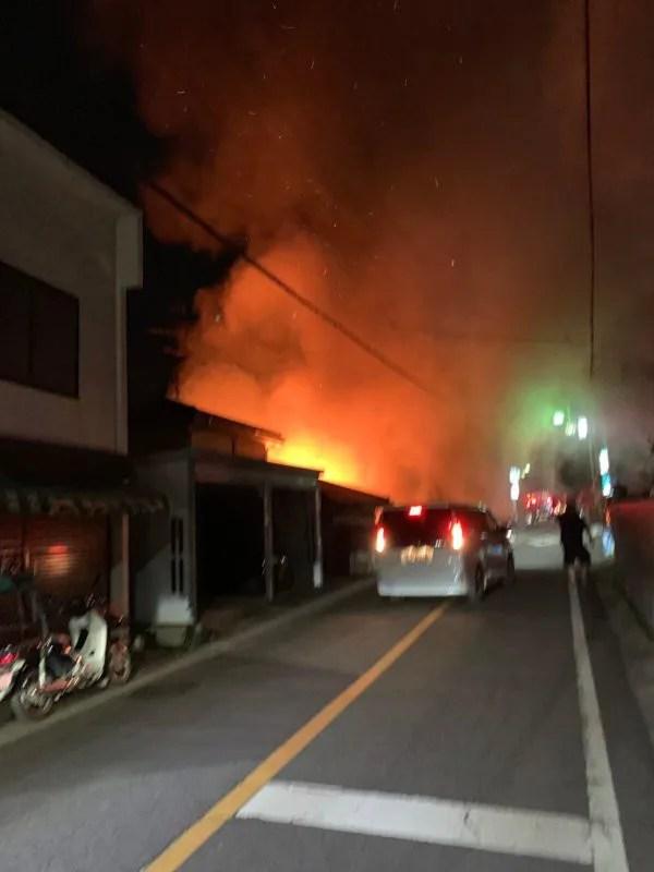 埼玉県入間市大字野田 細谷医院付近の住宅で火事