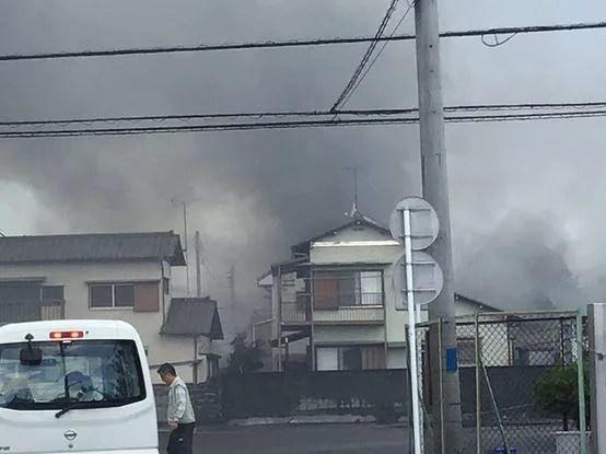 静岡県富士市厚原 火事