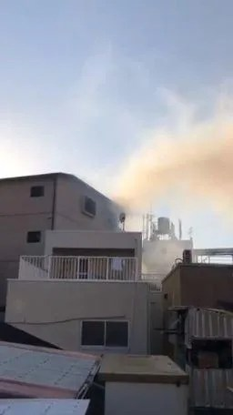 大阪市西成区天下茶屋北 浦上病院付近 火事 火災 2019年10月31日