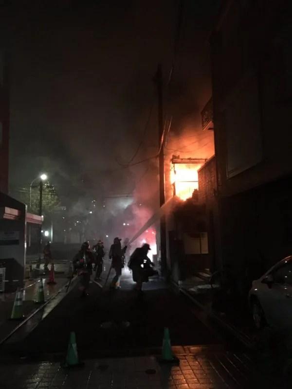 練馬区春日町3丁目31番 理髪店 火事