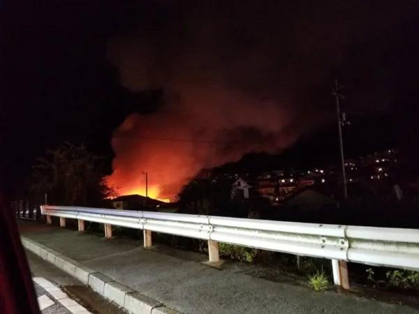 広島県広島市東区戸坂大上3丁目 火事 2019年12月6日