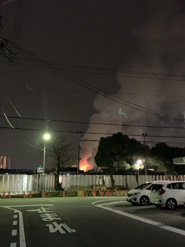 兵庫県姫路市北条1丁目 火事 2019年12月10日