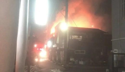 山口県下松市駅南1丁目で火事が発生 速報画像2019年12月11日