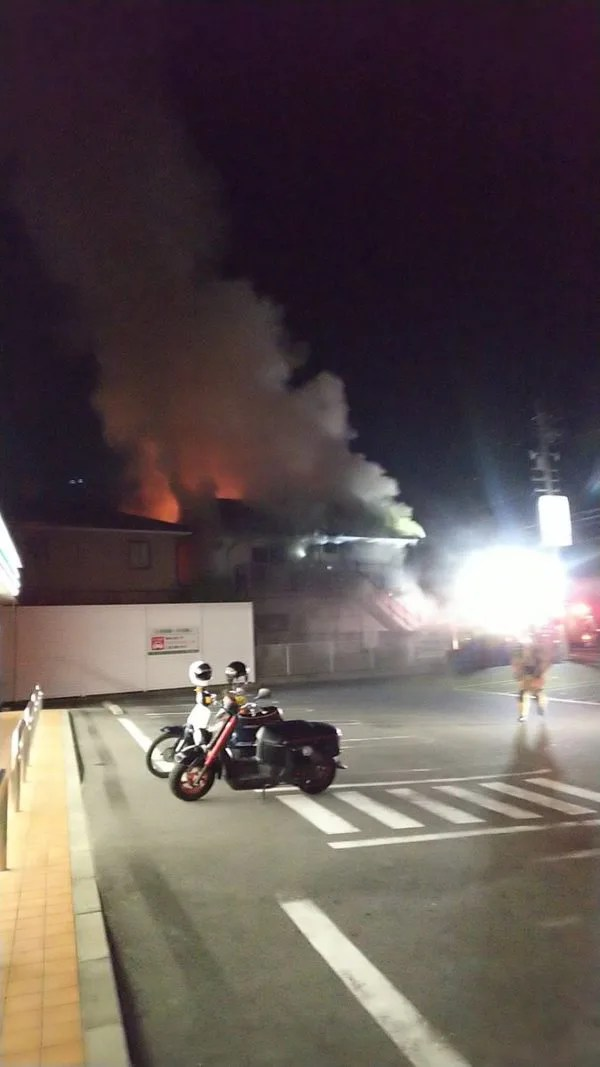 愛知県海部郡蟹江町宝3丁目 火事 2019年12月13日
