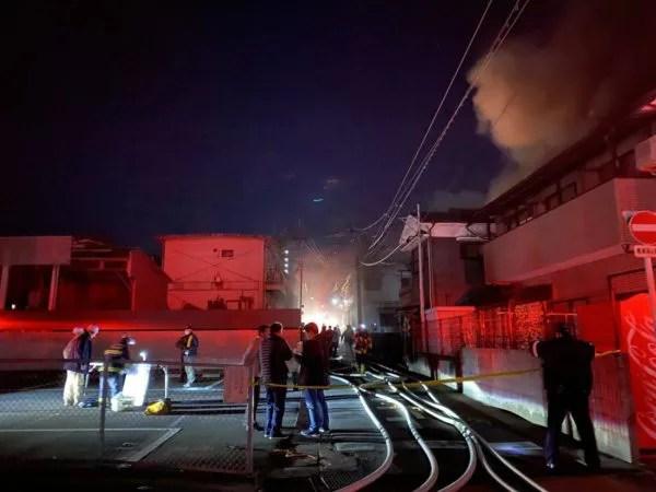 大分県別府市富士見町 火事  2020年1月13日