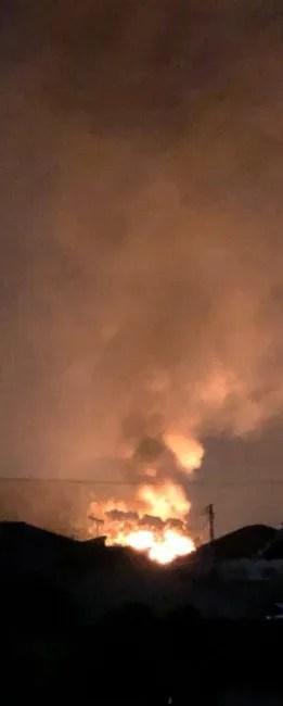 香川県綾歌郡宇多津町付近 火事 2020年1月14日