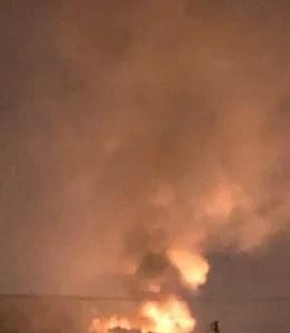 香川県綾歌郡宇多津町付近で火事 速報動画・画像2020年1月14日