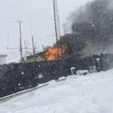 北海道札幌市白石区東米里 火事 2020年1月25日