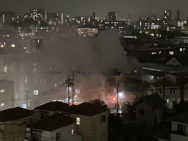 神奈川県川崎市幸区北加瀬3丁目 火事 2020年6月19日