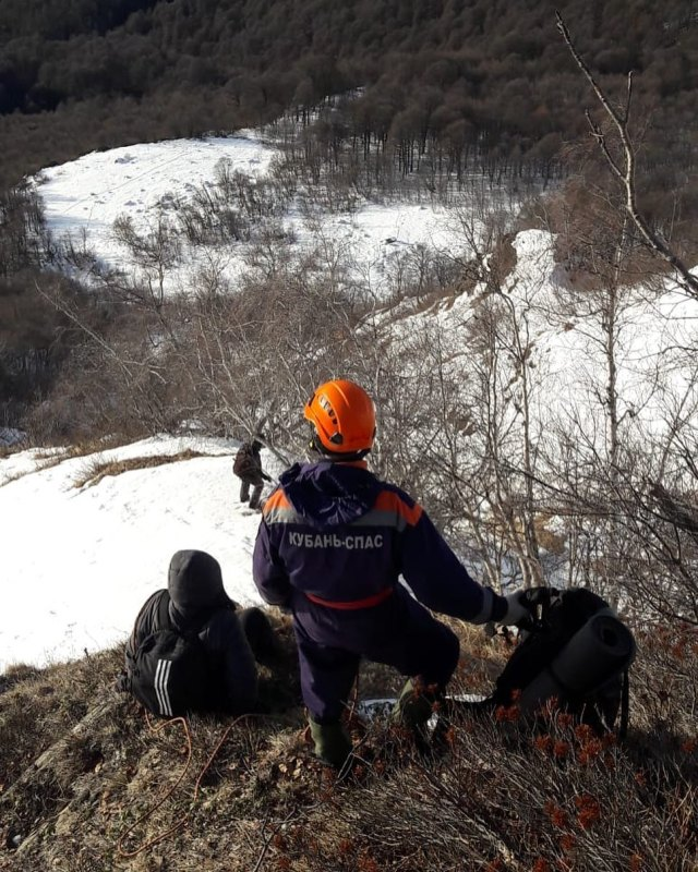 Потерявшихся в горах москвичей искали спасатели на Красной поляне в Сочи
