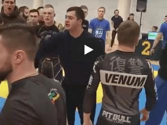 Массовая драка участников и зрителей на турнире по джиу-джису в Красногорске