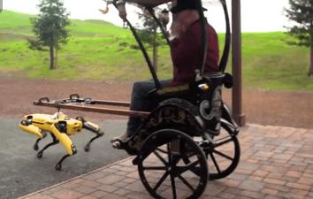 Адам Сэвидж запряг в повозку робособаку Spot от Boston Dynamics