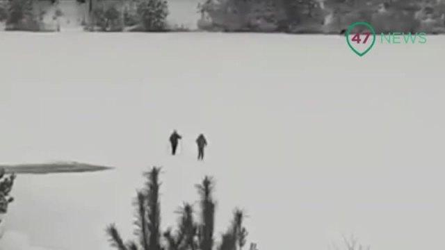 Двое взрослых и ребенок провалились под лед и утонули в Ленинградской области