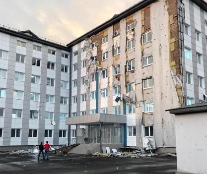 Прокуратура проверяет, как в КБР строили ковидный госпиталь, пострадавший после сильного ветра