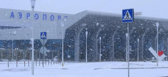 Аэропорт в МинВодах временно закрыт из-за снегопада