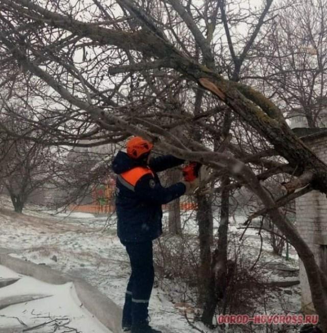 Жителей Новороссийска сдувал ураганный ветер