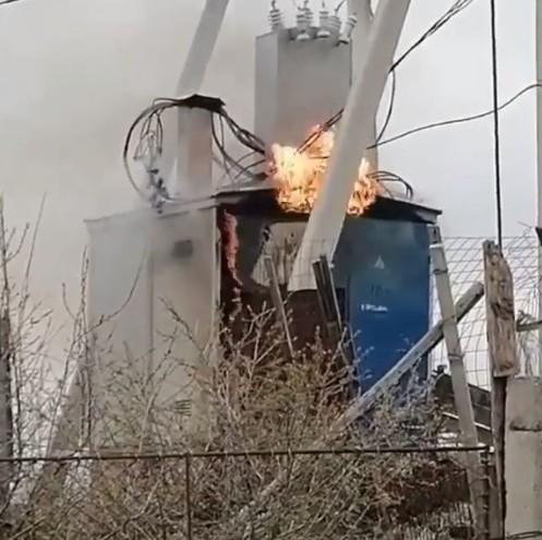 В одном из сел Ставрополья произошло возгорание на подстанции