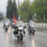 Ночные волки организовали мотопробег на КМВ в честь Дня Победы