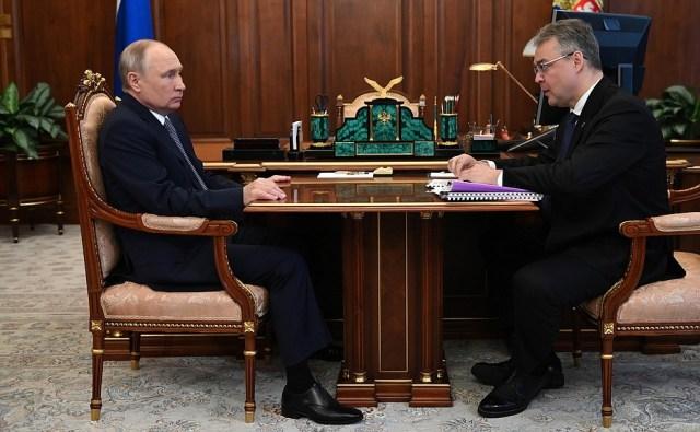 Президент России провёл встречу с губернатором Ставрополья