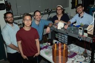 Rice University's MOANA team includes (from left) Charles Sebesta, Josh Chen, Jacob Robinson, Amanda Wickens and Gillaume Duret.