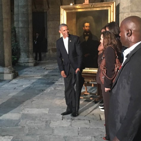 President Obama during his historic visit to Cuba (Pool photo).