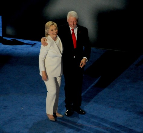 Hillary and Bill Clinton after her speech accepting the Democratic party's nomination for president © Karen Rubin/news-photos-features.com