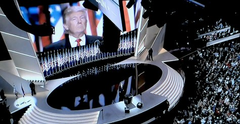 "Donald J. Trump accepts the Republican nomination for President ""humbly and gratefully."" © 2016 Karen Rubin/news-photos-features.com"