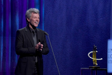"Jon Bon Jovi received the Clinton Global Citizen Award for Leadership in Philanthropy, honoring him for establishing Jon Bon Jovi Soul Foundation, a non-profit organization dedicated to bringing about positive change and helping the lives of those in need, ""one SOUL at a time."" © 2016 Karen Rubin/news-photos-features.com"