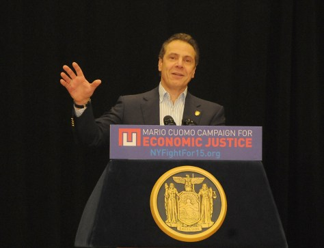 NYS Governor Andrew Cuomo warns that 2.7 million New Yorkers would lose health coverage if Republicans repeal Obamacare; the impact on the state's budget would be $3.7 billion © 2017 Karen Rubin/news-photos-features.com