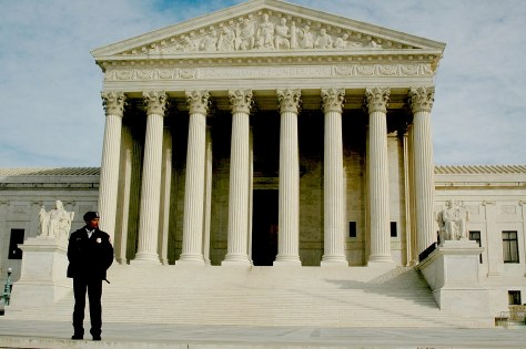 The US Supreme Court Building, Washington DC. Trump is insisting that Democrats swiftly confirm his nominee to fill Scalia's seat, Neil Gorsuch, even though Republicans blocked any confirmation hearing for Obama's nominee for nearly a year and threatened to refuse to consider any nominee if Hillary Clinton would have become President © 2017 Karen Rubin/news-photos-features.com