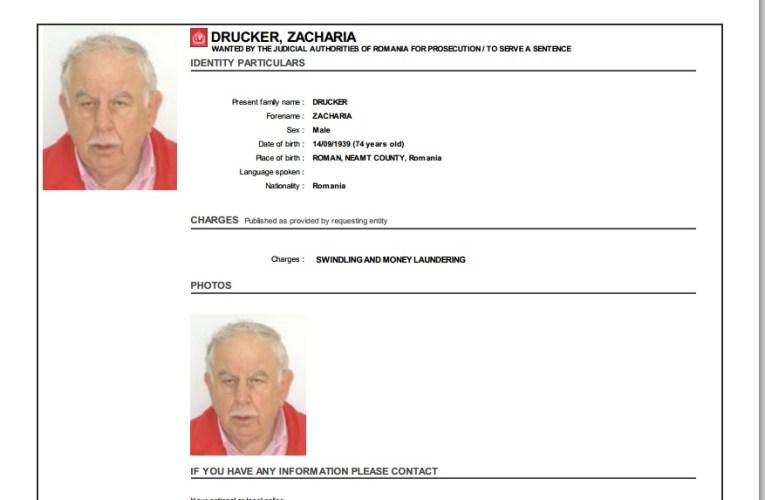 Romașcanul Zacharia Drucker – fost consul al României, urmărit de Interpol