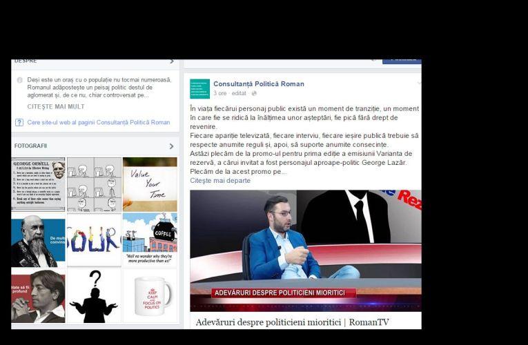 O pagină de Facebook, noua spaimă a politicienilor romașcani