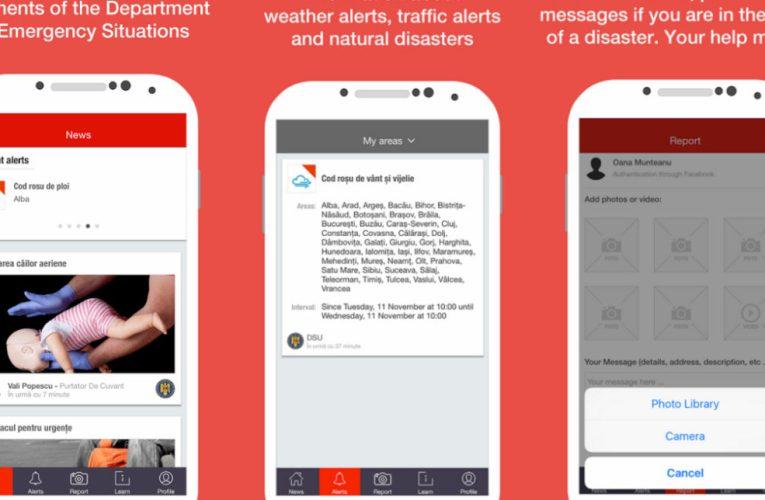 Aplicație gratuită pentru situații de urgență