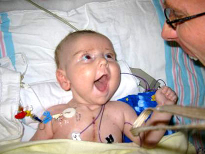 A baby after his heart transplant, but was it ethically done?