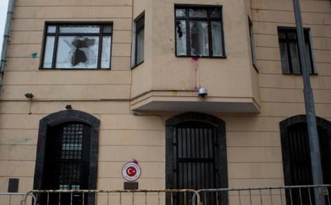 Здание посольства Турции в Москве было атаковано