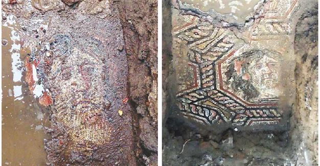Римскую напольную мозаику закатали в асфальт в Бурсе