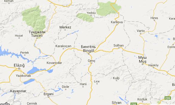 На востоке Турции произошло землетрясение магнитудой 5,5 балла