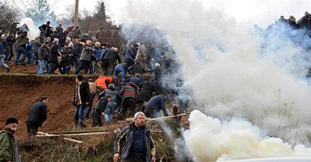 Полиция применила слезоточивый газ в Артвине
