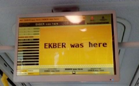 Экбер был во всех автобусах и трамваях Стамбула