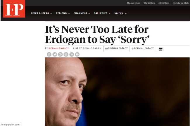 Эрдогану никогда не поздно извиниться