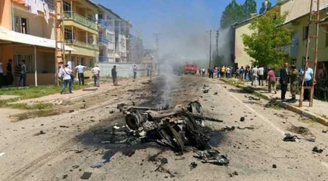 Взрыв заминированного автомобиля в Тунджели