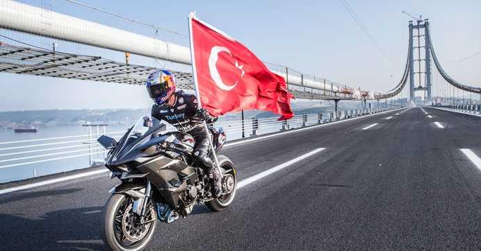 400 км/ч по новому мосту Осман Гази